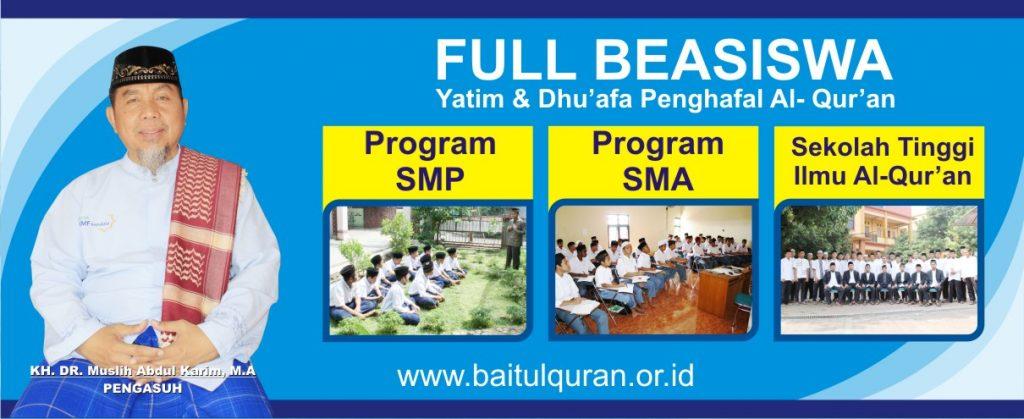 Full Beasiswa Yatim & Dhu'afa