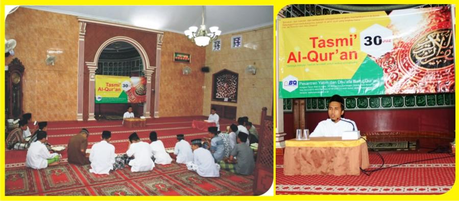 Santri Pesantren Baitul Quran tasmi' Hafalan Alqur'an 30 Juz sekali duduk