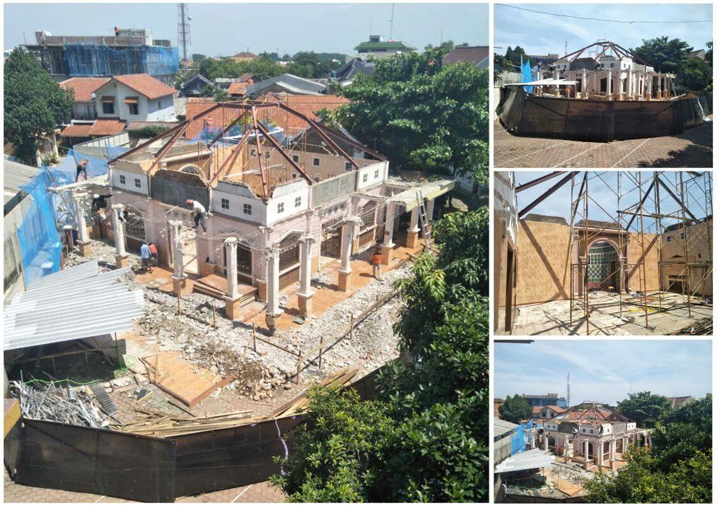 proses renovasi masjid baitul quran